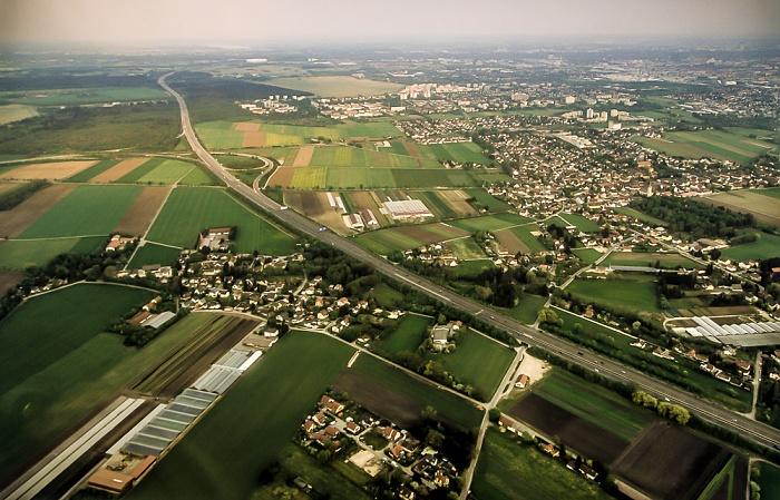 Luftbild aus Zeppelin: Feldmoching-Hasenbergl - Autobahnring A 99 und Autobahndreieck München-Feldmoching