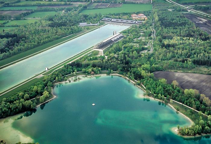 Luftbild aus Zeppelin: Regattastrecke Oberschleißheim München 2011