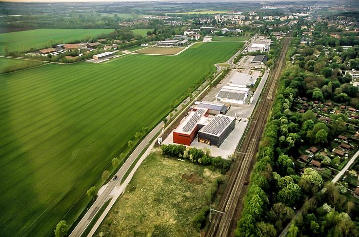 Luftbild aus Zeppelin: Sonnenstraße, Bahnstrecke München - Freising München 2011