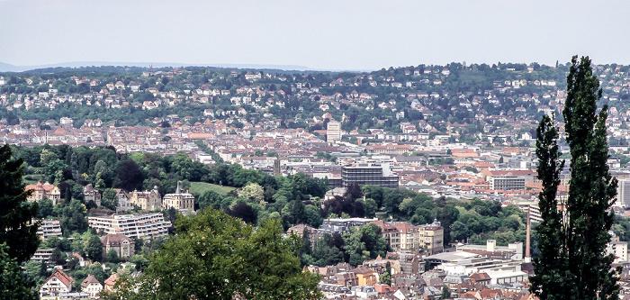 Blick von der Haigst-Aussichtsplattform auf Stuttgart-Süd