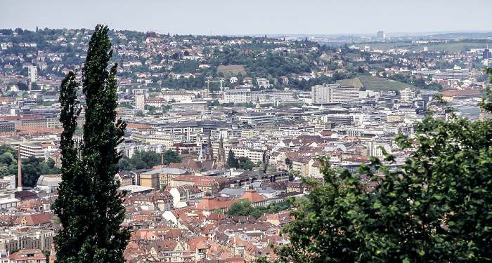 Blick von der Haigst-Aussichtsplattform auf Stuttgart-Mitte