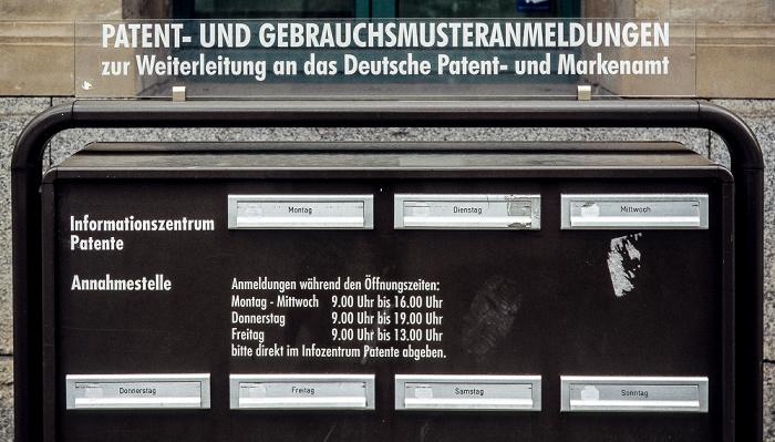 Stuttgart Haus der Wirtschaft Baden-Württemberg: Briefkasten des Deutschen Patent- und Markenamts