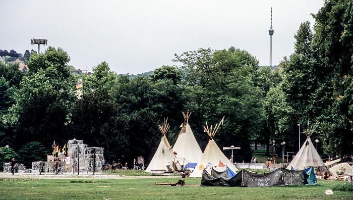 Mittlerer Schlossgarten: Proteste gegen Stuttgart 21 Fernsehturm