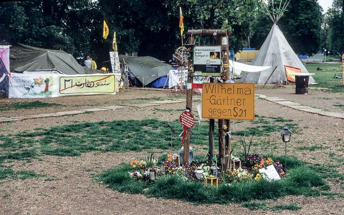 Mittlerer Schlossgarten: Proteste gegen Stuttgart 21