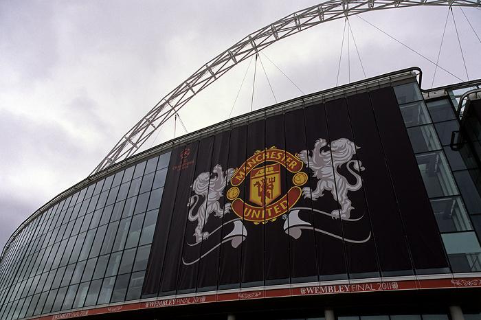 London Wembley Park: Wembley-Stadion (Wembley Stadium) - Vereinslogo von Manchester United