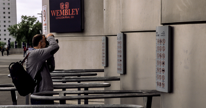 London Wembley Park: Wembley-Stadion (Wembley Stadium) - Stadioneingänge