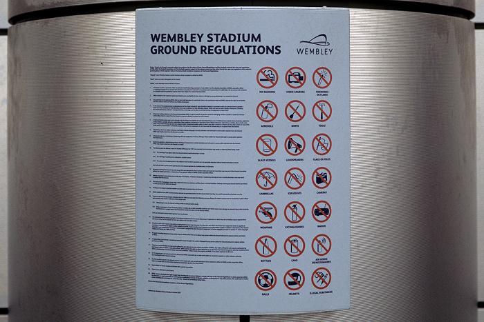 London Wembley Park: Wembley-Stadion (Wembley Stadium) - Stadionbestimmungen