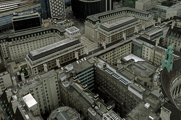 Blick aus dem London Eye: County Hall Apartments und London County Hall