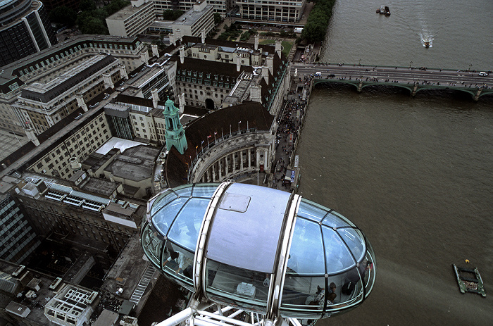 London Eye, County Hall Apartments, London County Hall, Westminster Bridge, Themse London