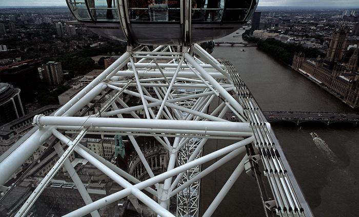 London Eye Houses of Parliament Lambeth Bridge Themse Westminster Bridge
