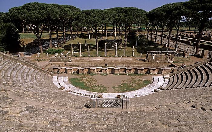 Ostia Antica: Theater Ceres-Tempel Forum der Zünfte Thermen des Neptun