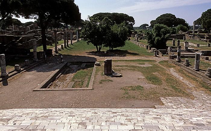 Ostia Antica: Blick vom Kapitol auf Forum