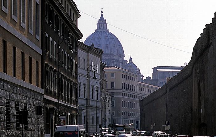 Rom Borgo Sant' Angelo / Via dei Corridori Engelsburg Passetto di Borgo Petersdom