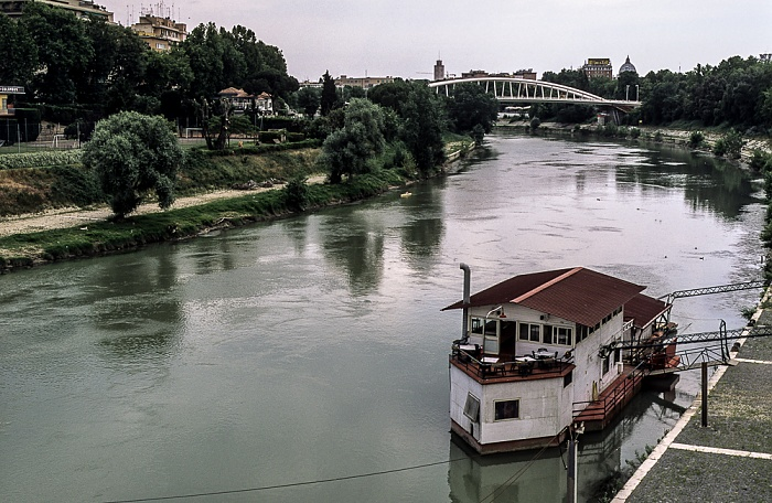 Rom Blick von der Ponte Duca d'Aosta: Tiber Ponte della Musica