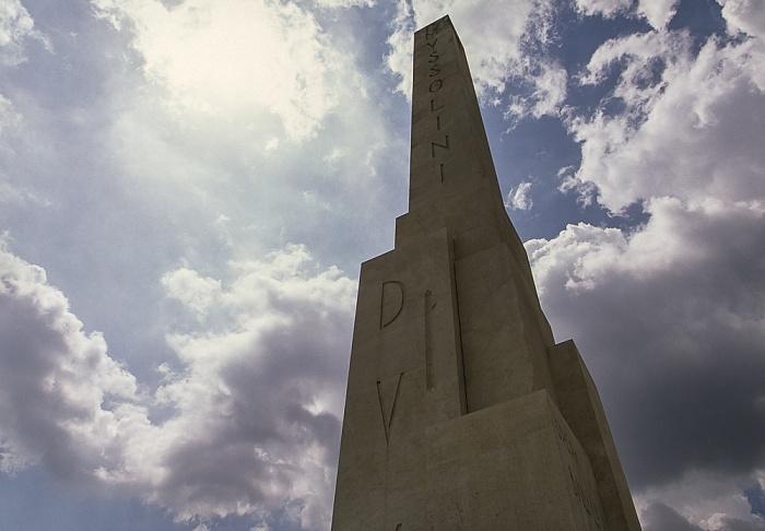 Foro Italico: Mussolini-Obelisk Rom