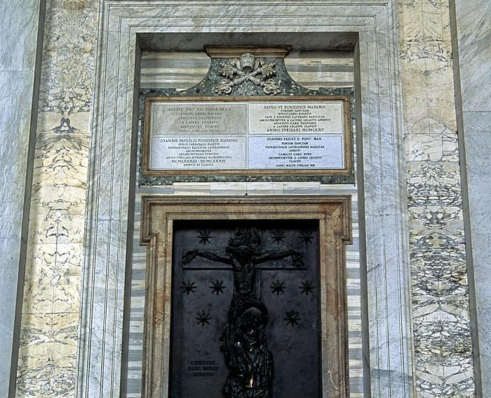 Rom Lateranbasilika (San Giovanni in Laterano): Heilige Pforte (lPorta sancta)