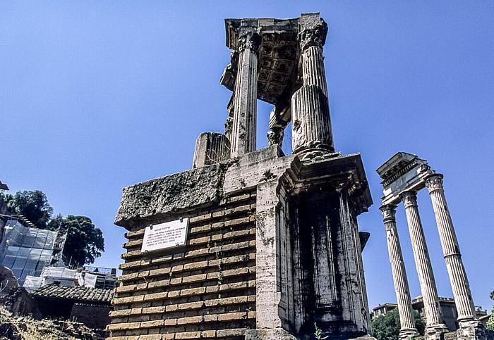 Forum Romanum: Tempel der Vesta Tempel von Castor und Pollux