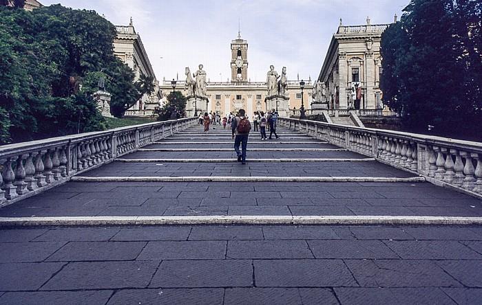 Rom Kapitol: Cordonata und Senatorenpalast Konservatorenpalast Palazzo Nuovo