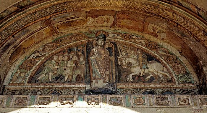 Basilica di San Zeno: Teil des Portals Verona 2011