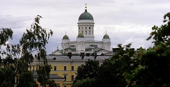 Blick auf Kruununhaka mit dem Dom von Helsinki (Helsingin tuomiokirkko)