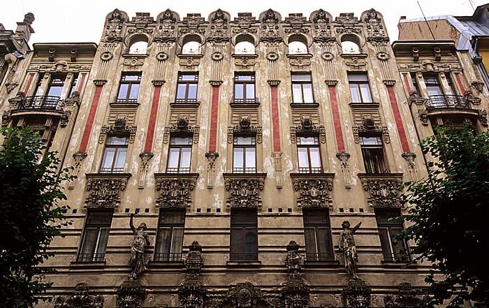 Riga Neustadt (Centrs): Jugendstilviertel - Albertstraße (Alberta iela)
