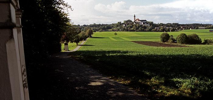 Kreuzweg zum Kloster Andechs Klosterkirche