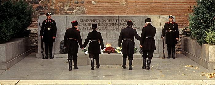 Vor der Sweta Sofia (Sophienkirche): Militärparade in historischen Uniformen