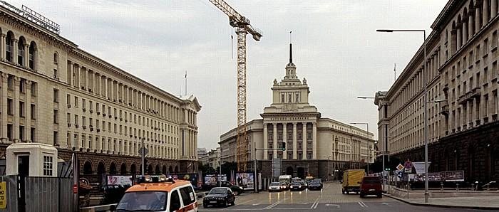 Sofia Nezavisimost-Platz: Largo-Komplex Ehem. Hauptsitz der Bulg. Kommunistischen Partei Ministerratsgebäude Präsidialverwaltung Sheraton Sofia Hotel Balkan Zentralkaufhaus Sofia