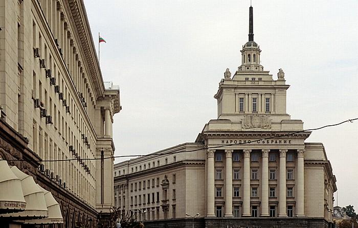 Sofia Nezavisimost-Platz: Largo-Komplex Ehem. Hauptsitz der Bulg. Kommunistischen Partei Ministerratsgebäude