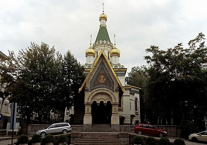 Sofia Tsar Osvoboditel Boulevard: Russische Kirche (Ruska tsarkva)