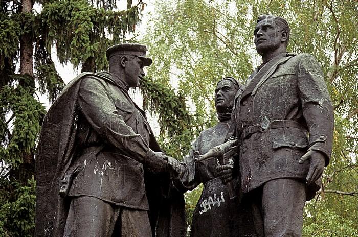 Sofia Borissowa gradina (Borisgarten): Denkmal Bratska mogila zum Gedenken an den nationalen Widerstand (Partisanendenkmal)