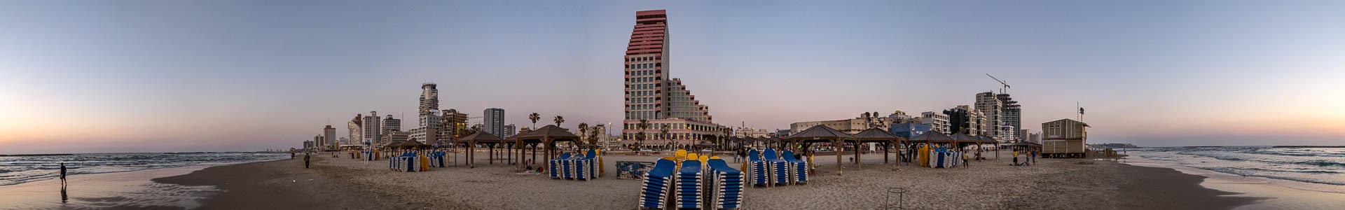 Tel Aviv Mittelmeer, Strand und Skyline