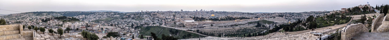 Blick vom Ölberg: Altstadt mit Tempelberg Jerusalem