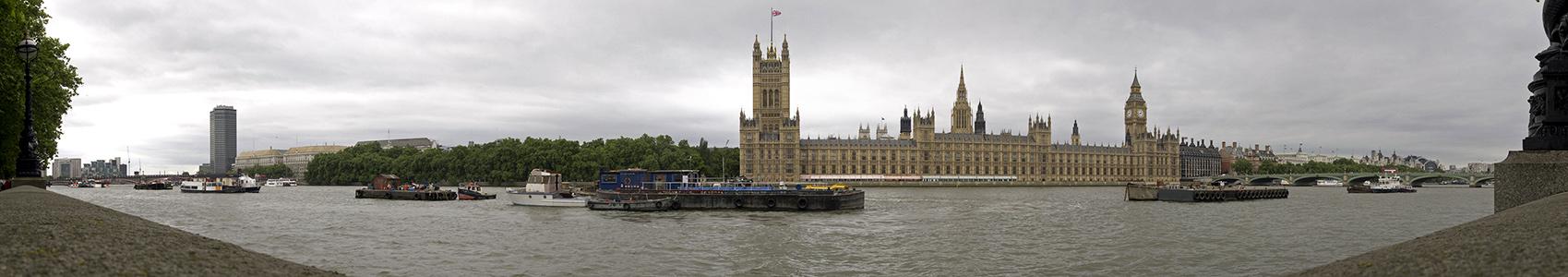 Blick von der South Bank London