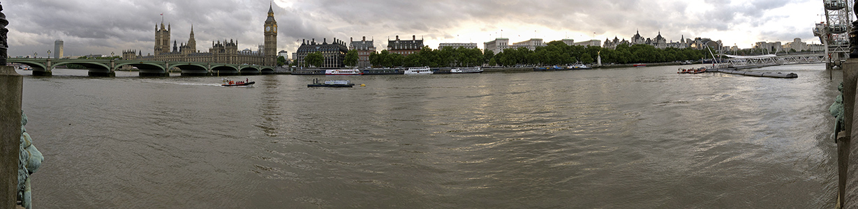 Blick von der South Bank London
