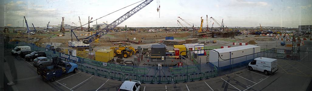 London Heathrow Airport: Baustelle von Terminal 2