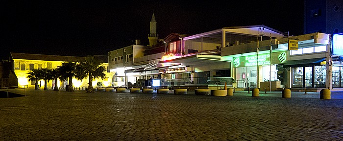 Larnaka Strandpromenade (Leoforos Athinon) Djami-Kebir-Moschee Türkisches Hafenkastell
