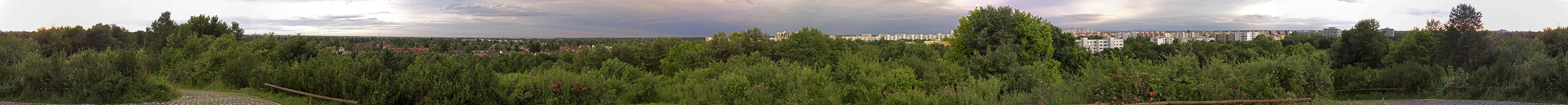 München Ostpark mit Ausblicken auf Ramersdorf, Berg am Laim, Trudering und Neuperlach