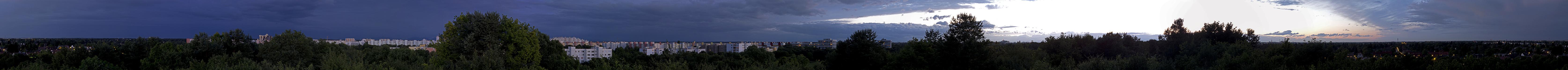 München Ostpark mit Ausblicken auf  Neuperlach, Ramersdorf, Berg am Laim und Trudering