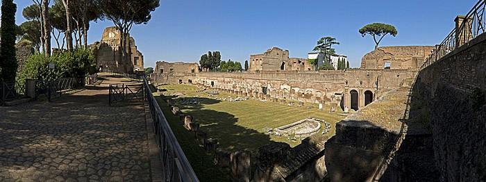Palatin: Exedra, Stadion, Domus Augustana Rom