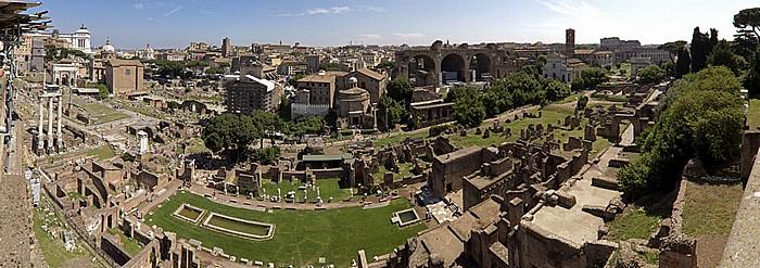 Blick vom Palatin: Forum Romanum Rom