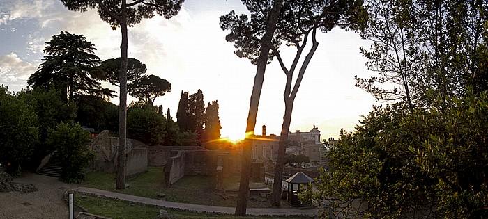 Sonnenuntergang über dem Forum Romanum