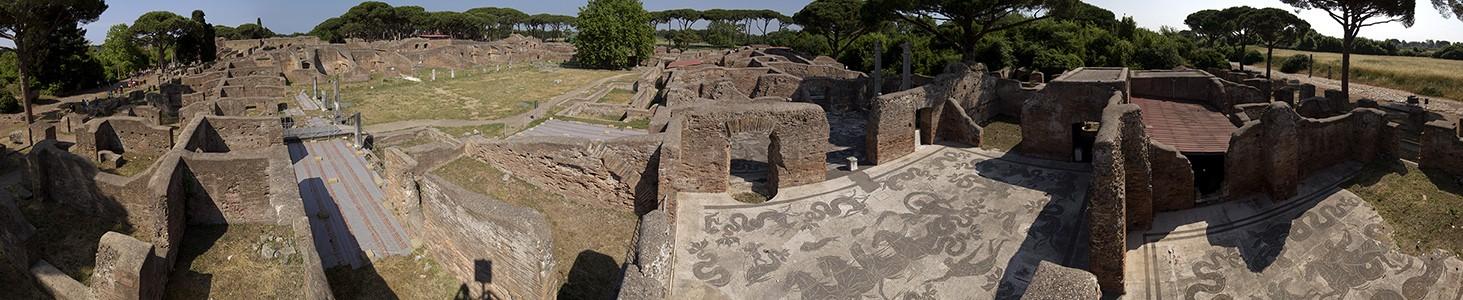 Ostia Antica: Decumanus Maximus, Thermen des Neptun, Decumanus Maximus