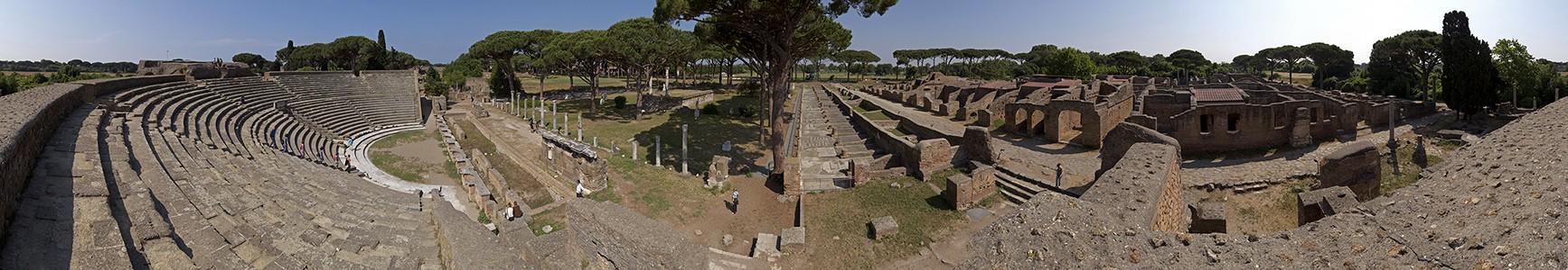 Ostia Antica: Theater, Forum der Zünfte mit dem Ceres-Tempel, Thermen des Neptun