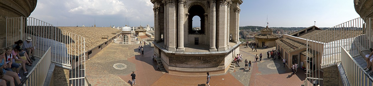 Vatikan Petersdom: Dach des Längsschiffes