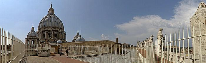 Vatikan Petersdom: Kuppel, Dach des Längsschiffes