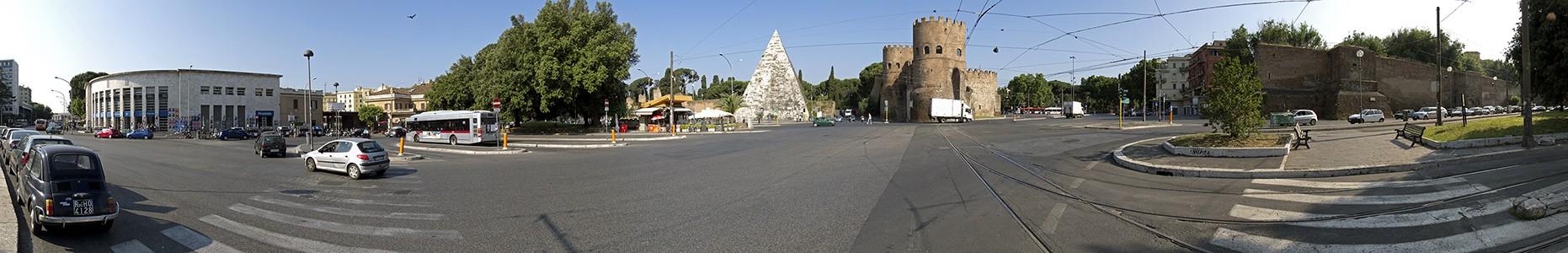 Piazzale Ostiense: Stazione Piramide, Pyramide des Caius Cestius, Porta San Paolo Rom