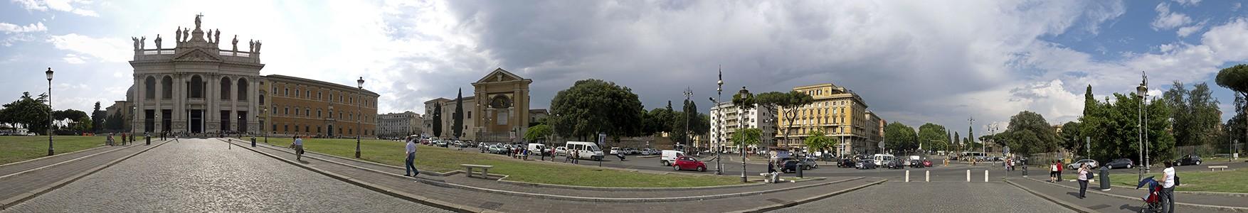Piazza di Porta San Giovanni: Lateranbasilika (San Giovanni in Laterano), Lateranpalast, Apsis des Leonischen Triclinium Rom