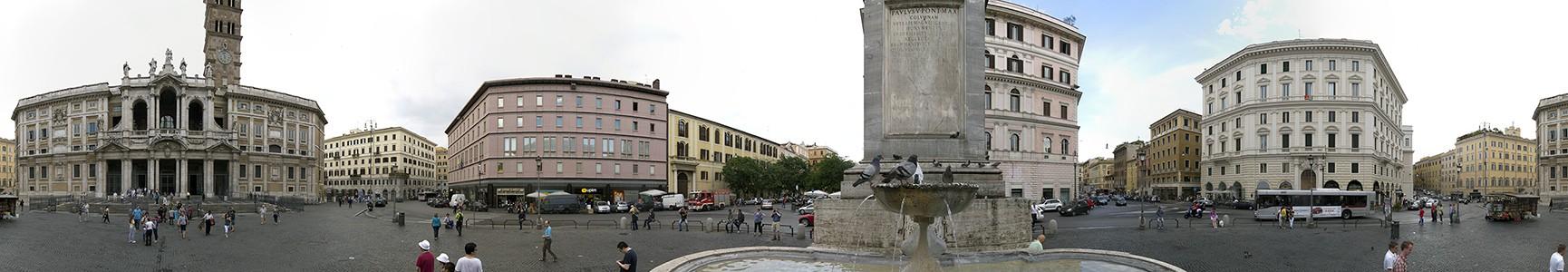 Piazza di Santa Maria Maggiore, Santa Maria Maggiore, Fontana di Piazza Santa Maria Maggiore Rom