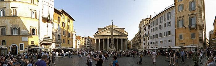 Piazza della Rotonda: Fontana del Pantheon mit dem Obelisk Macuteo, Pantheon Rom